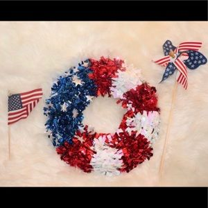 Fourth of July wreath with extras